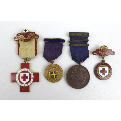70 - Two WWI Nursing medal groups, comprising a group for Nurse Beatrice Kean, a WWI Victory medal, North...