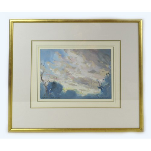 122 - Arthur Henry Knighton-Hammond (1875-1970): watercolour and gouache, 'Early Morning Clouds...', signe...