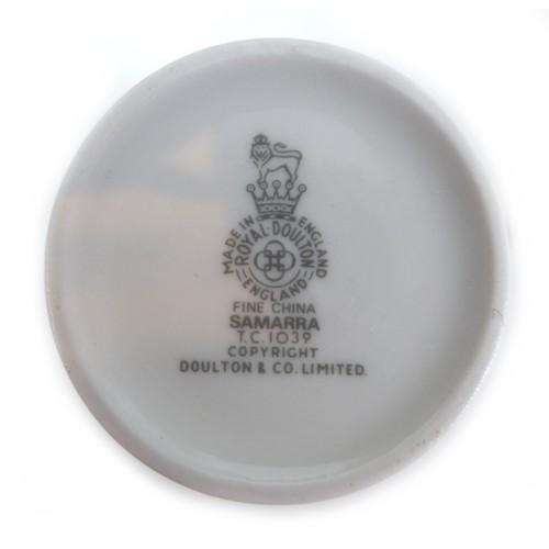 21 - A Royal Doulton Samarra pattern coffeet set, comprising Coffee pot, milk jug, sugar bowl, six cups a...