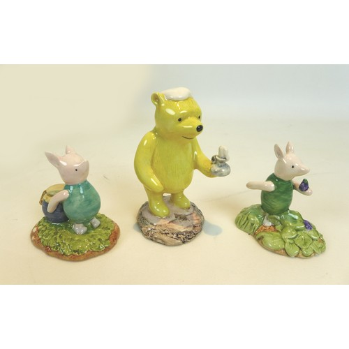 15 - Eight boxed Royal Doulton Winnie the Pooh collection figurines, comprising 'Piglet and the balloon',...