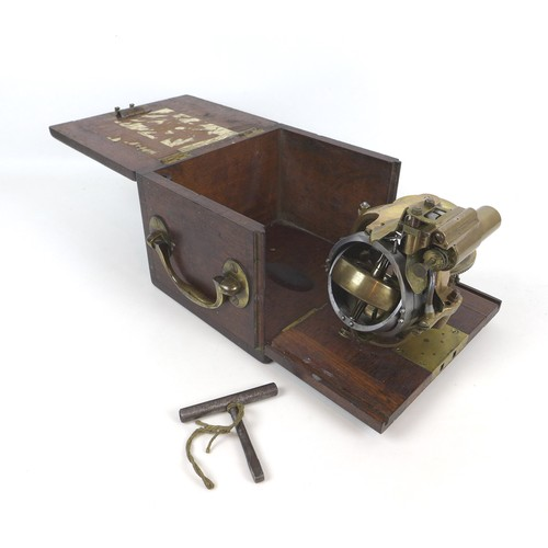 72 - A circa 1904 British brass and steel Torpedo Gyroscope, from the Royal Gun factory in Woolwich, stam...