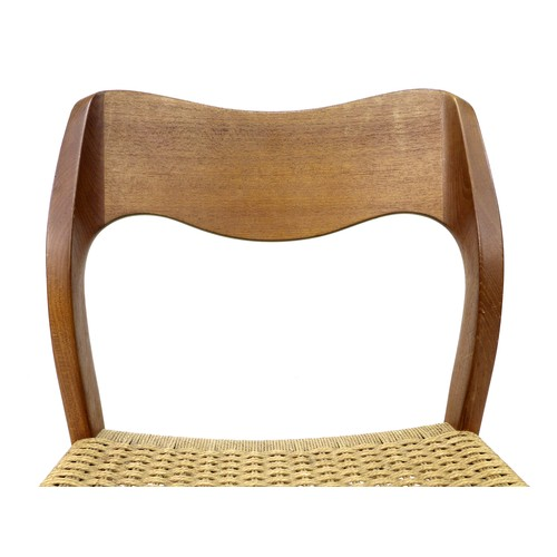 190 - A set of ten Danish teak dining chairs, by J. L. Møllers Møbelfabrik, Model No. 71, circa 1960, desi...
