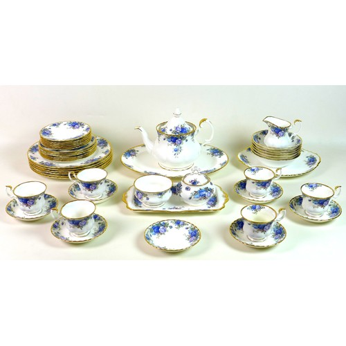 1 - A Royal Albert part tea and dinner service, decorated in the Moonlight Rose pattern, comprising teap...