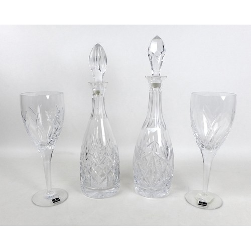 9 - A pair of Waterford Signature Goblets, 10062SW, 9.2 by 25.5cm high, boxed as new, together with two ...