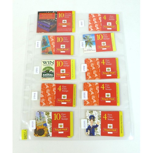 92 - A collection of GB Royal Mail booklets, QEII mint stamps, originally purchased 1995-2000, comprising...