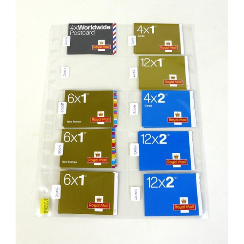 96 - A collection of GB Royal Mail booklets, QEII mint stamps, all originally purchased 2004-2006, compri...