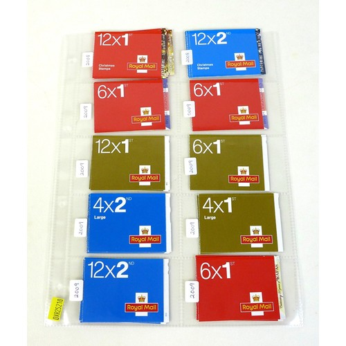 98 - A collection of GB Royal Mail booklets, QEII mint stamps, all originally purchased 2008-2009, compri...