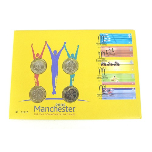 89 - A scarce Royal Mint 2002 Manchester The XVII Commonwealth Games commemorative first day coin cover, ...