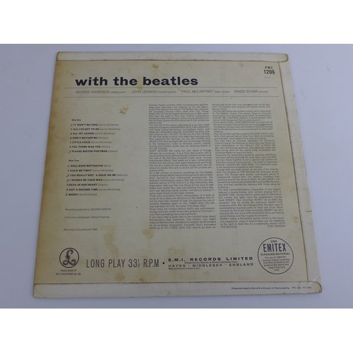 39 - A collection of forty six records, including a 1963 'With the Beatles' PMC 1206, Simon & Garfunkel '...