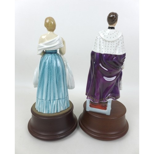12 - A pair of Royal Doulton Portrait Figures, modelled as HRH The Prince Of Wales, HN2883, and Lady Dian...