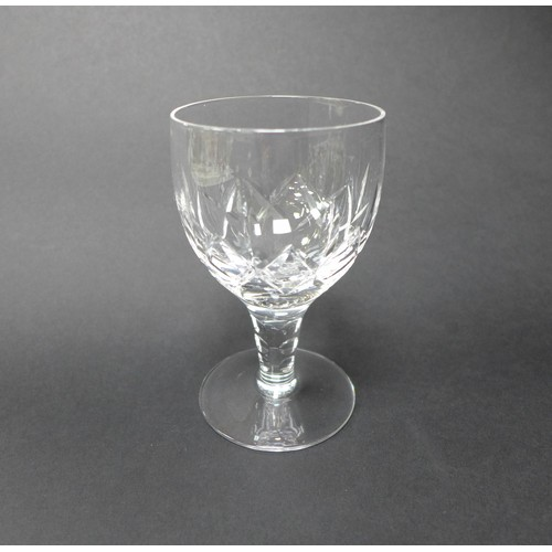 27 - A suite of Stuart crystal drinking glasses, comprising eight large wine, 17.7cm high, twelve small w...