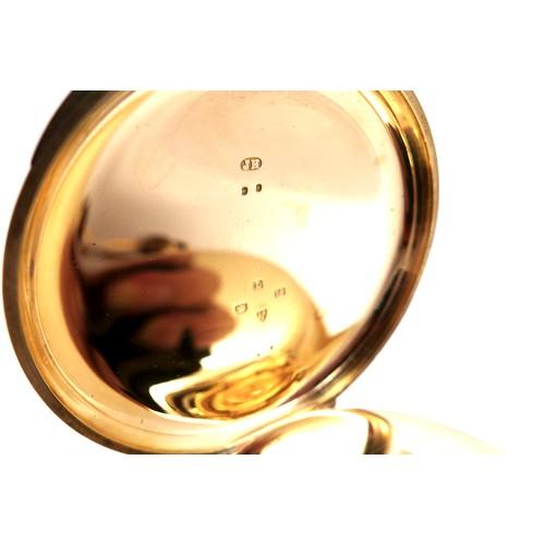 106 - A late Victorian 18ct gold cased open faced pocket watch, keyless wind, by Sir John Bennett Ltd, Lon...