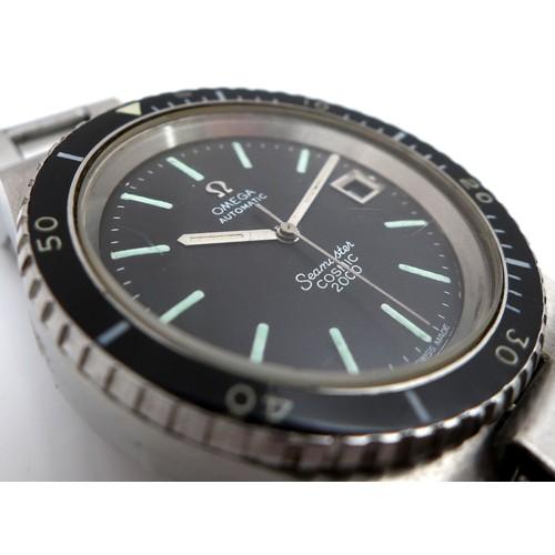 226 - An Omega Seamaster Cosmic 2000 'Big Crown' stainless steel gentleman's wristwatch, vintage diver's w...