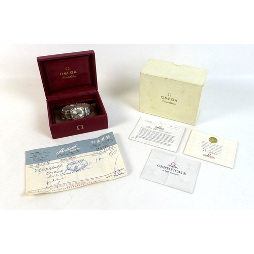 225 - A vintage Omega Constellation Automatic Chronometer stainless steel and gold plated gentleman's wris...
