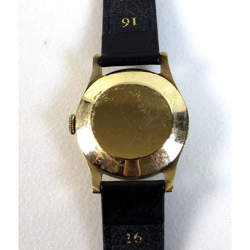 220 - A vintage Rolex Shock-Resisting 9ct gold cased gentleman's wristwatch, circa 1950s, ref. 12325, circ...