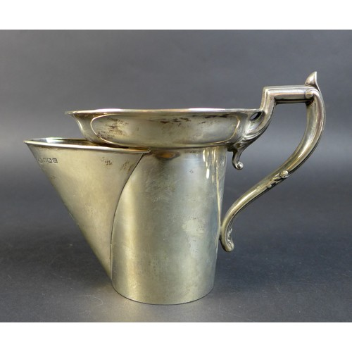 53 - A Edward VII silver shaving mug, with shaped foliate clasped handle, John Round & Son Ltd (Joseph Ri...