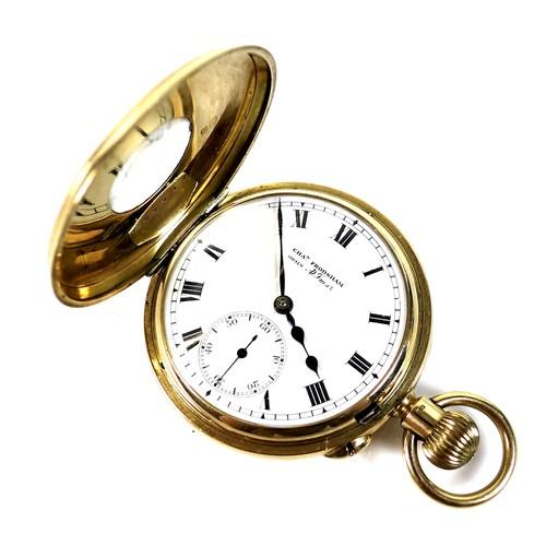 262 - A George V Charles Frodsham 18ct gold cased half hunter pocket watch, keyless wind, number 09919, wi...
