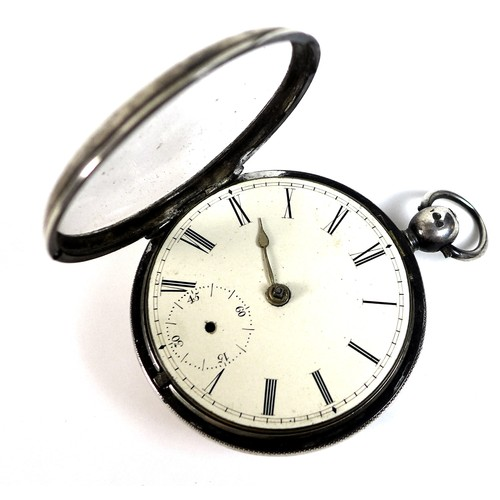 235 - A William IV silver cased pocket watch, the verge escapement not named but numbered 8572, case Londo...