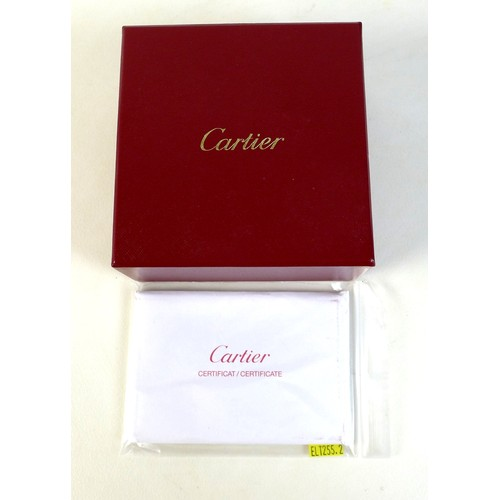 413 - A Cartier 18k white gold 'LOVE' bracelet, circa 2005, a/f damaged and with replacement screw, decora...