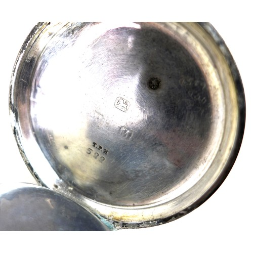 243 - A late Victorian silver cased pocket watch, H. Samuel, Manchester, open faced, key wind, number 2321...
