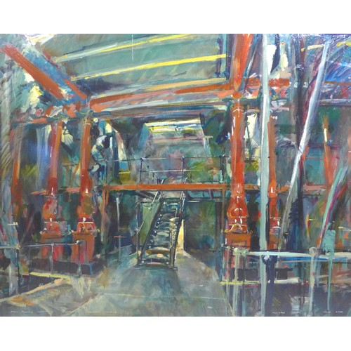 213 - Michael (Mike) R. Hoar ARCA (British, 1943-2017): Abbey Pumping Station Leicestershire Industrial Mu...