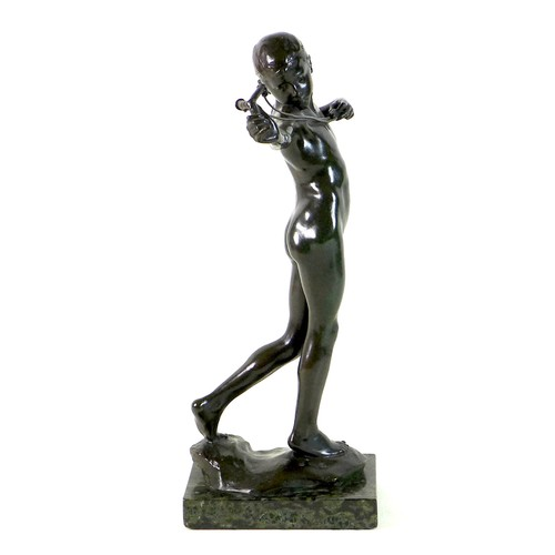 86 - Sir William Reid Dick (British, 1878-1961): 'Slingboy' or 'The Catapult', a bronze figural sculpture...