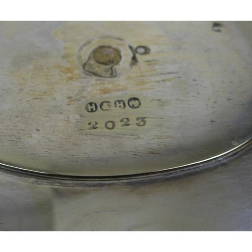 18 - A pair of George IV silver sugar nips, monogram engraved, William Theobalds & Lockington Bunn, Londo...