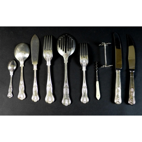 2 - A canteen of silver plated cutlery, in the Kings Royale Pattern by Lambert and Blaber Ltd, comprisin...