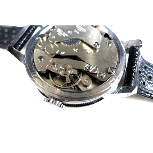 85 - A Heuer Game-Master stainless steel cased wrist-worn stopwatch, circa 1960, ref 502.050, manual wind...