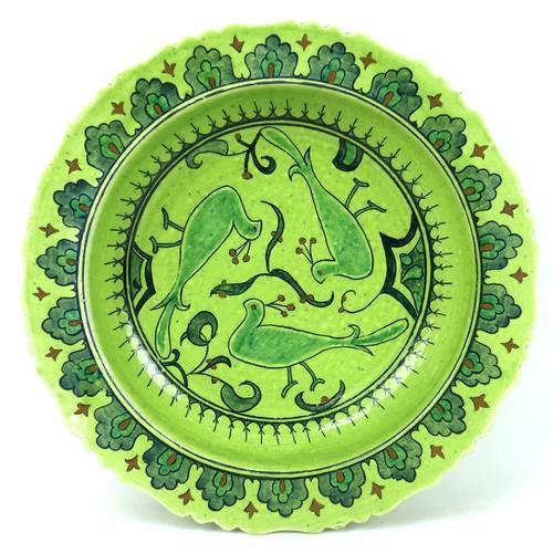 22 - Four pieces of 20th century Turkish and British studio pottery, comprising a Turkish Sıtkı Olçar gre...