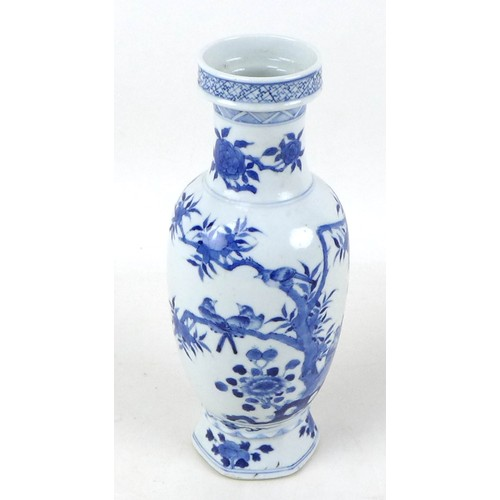 3 - A Chinese porcelain vase, Qing Dynasty, 19th century, of baluster form with stepped rim, decorated i...