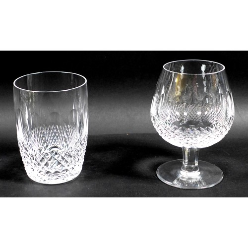 47 - A collection of fourteen Waterford Colleen pattern glasses and other glassware, comprising seven sma...
