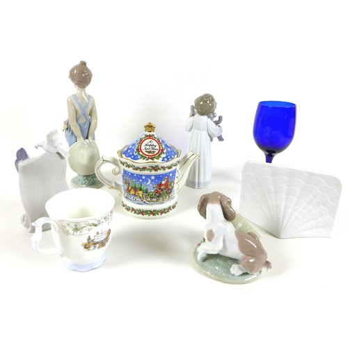 40 - A group of Lladro and other decorative ceramics and glass, comprising Lladro Collector's Society: 'I...