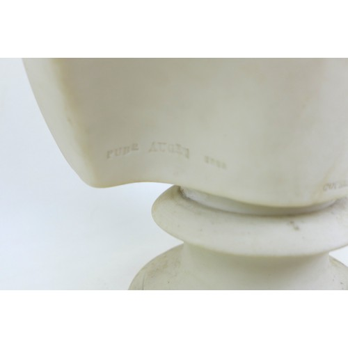 36 - A 19th century Copeland Parian bust Edward Prince of Wales, with impressed factory marks to its back...