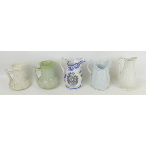 30 - A group of 19th century and later ceramics, including a Mason's Ironstone lidded ginger jar, 12 by 1...