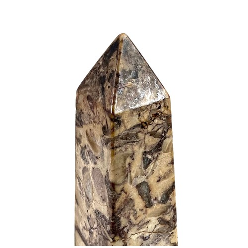 125 - A 19th century specimen marble obelisk, in Grand Tour style, formed from eleven different types of m...