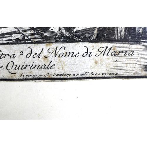 211 - A group of four 18th century architectural engravings, comprising 'Veduta delle due Chiese, l'una de...