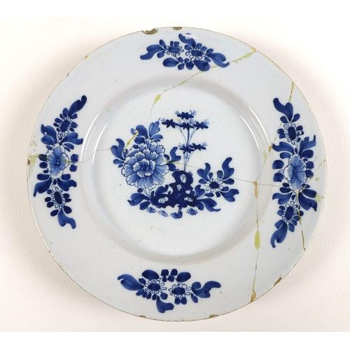 10 - A selection of 18th century and later ceramics, including a large Qing famille rose porcelain bowl, ...