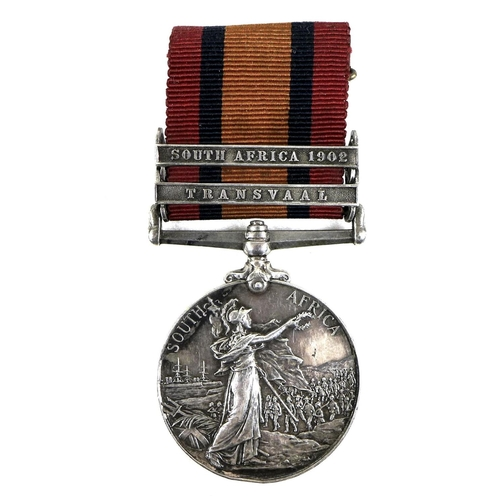 117 - A South Africa Boer War Medal, awarded to Corporal Walter Shires, 7798, Vol: Coy Cheshire Regiment, ...