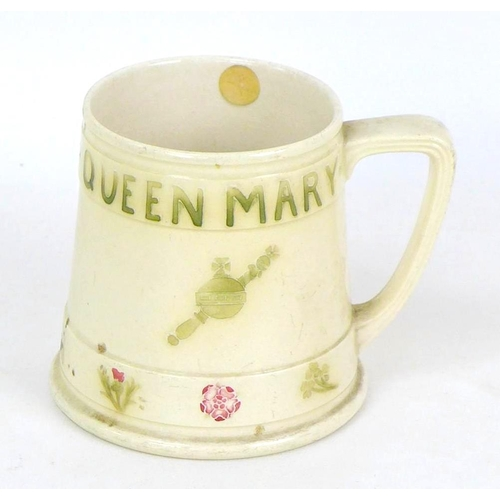 26 - A Moorcroft commemorative King George V and Queen Mary Coronation mug, with impressed mark and 'From...