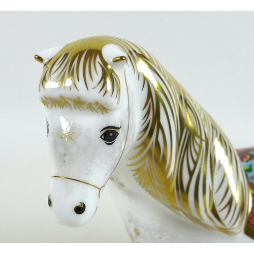 34 - A Royal Crown Derby paperweight, modelled as 'Shetland Pony', limited edition 197/450 exclusive to t...