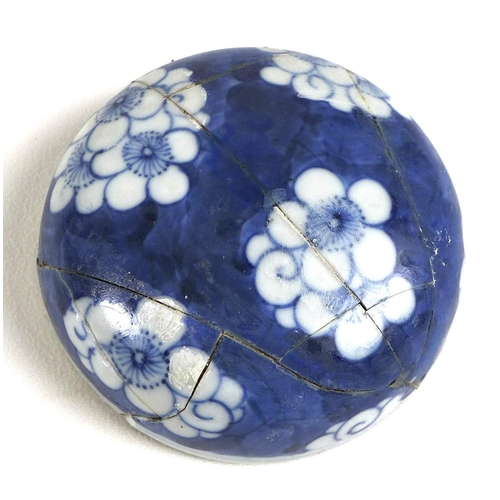 8 - A Chinese porcelain ginger jar, Qing Dynasty, early 20th century, decorated in blue and white with p...