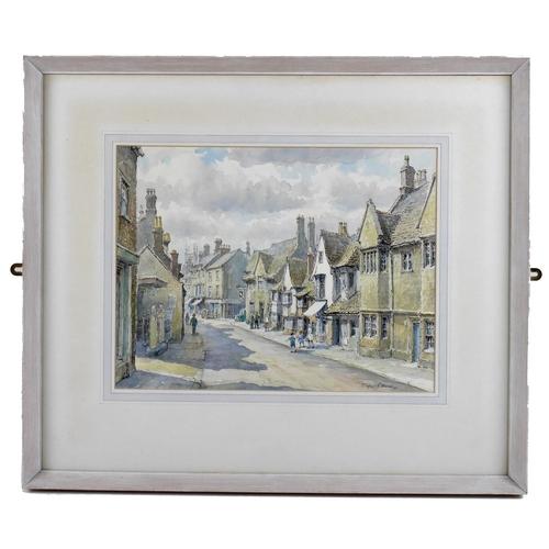 138 - Wilfrid Rene Wood (British, 1888-1976): a view of Stamford, depicting 'St Paul's Street' (No 2), wat...