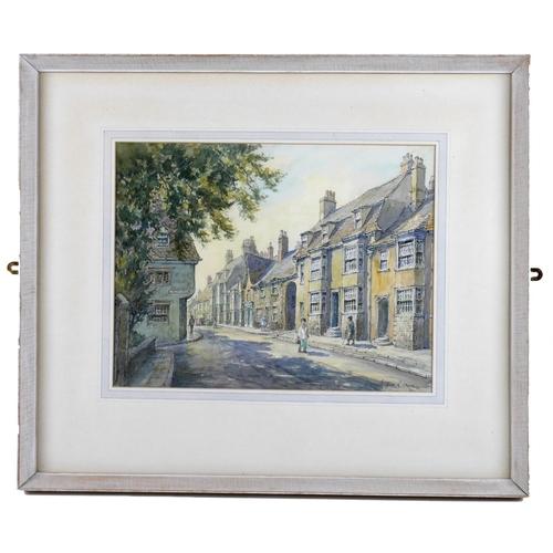 139 - Wilfrid Rene Wood (British, 1888-1976): a view of Stamford, depicting 'St Peter's Street' (No 3), wa...