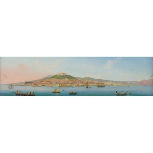 155 - French / Italian School (early 19th century): an early 19th century view towards Syracuse, Catania a...