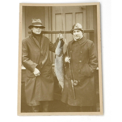 168 - An Edwardian taxidermy pike, stuffed and mounted in naturalistic setting within a bow fronted glazed...