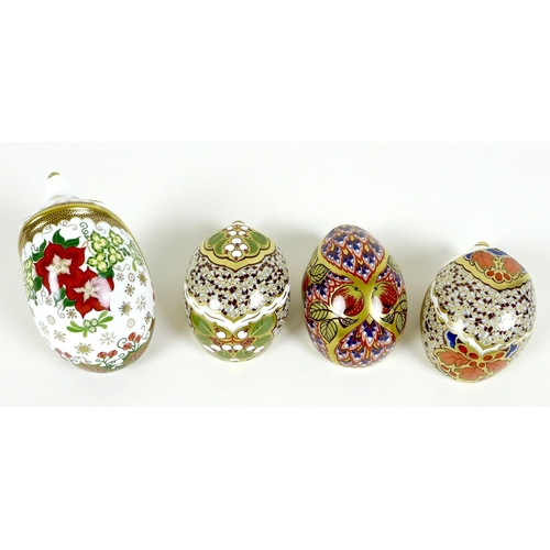 24 - A group of four Royal Crown Derby paperweights, all modelled as hedgehogs, comprising 'Orchard Hedge...