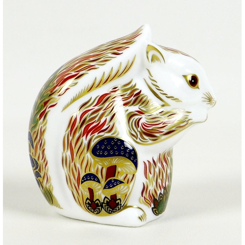 28 - A rare Royal Crown Derby paperweight, 'Stoney Middleton Squirrel', exclusive edition 43/500 commissi...