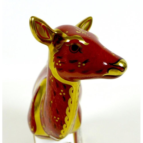 32 - A Royal Crown Derby paperweight, 'Sherwood Hind', MMVI, limited edition 157/595 specially commission...
