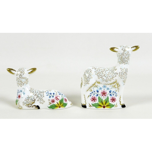 35 - A pair of Royal Crown Derby paperweights, comprising 'Bo' and 'Peep', both limited edition 49/1000 e...
